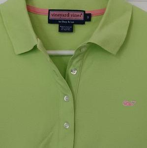 Vineyard Vines Bright Green Woman's Polo Shirt. Small.